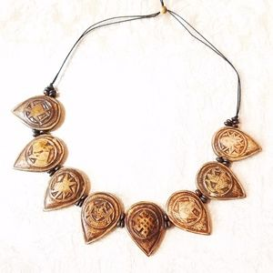 Jewelry - Nepalese Hand Carved Bone Necklace